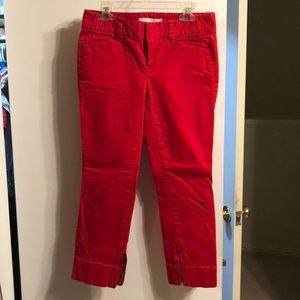 Loft Marisa Capri pants with zippered ankle